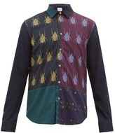 Paul Smith Beetle-print Contrast Cotton-poplin Shirt - Mens - Navy