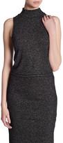 BB Dakota Sleeveless Mock Neck Metallic Knit Shirt