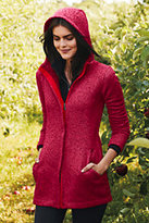 Classic Women's Sweater Fleece Parka-Darkest Burgundy
