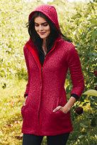 Classic Women's Tall Sweater Fleece Parka-Ivory Heather