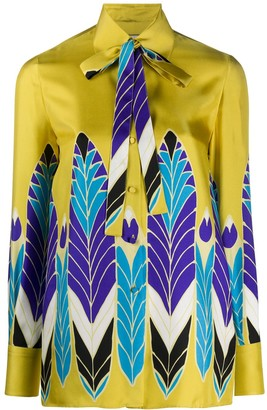 Valentino Pop Feather print shirt