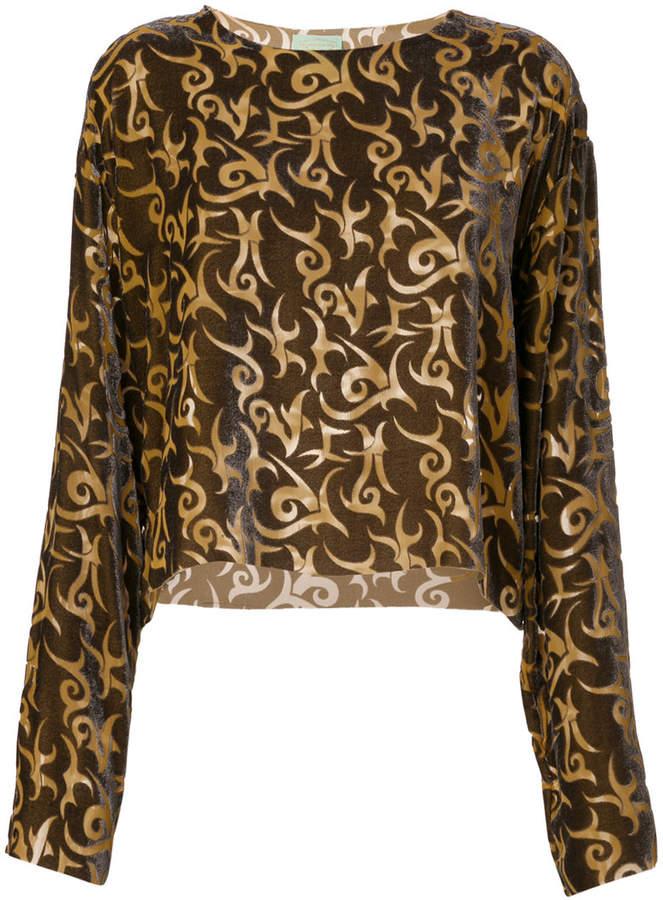 Aries printed blouse