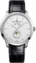 Girard Perregaux Girard-Perregaux 49535-11-131-BB60 1966 stainless steel and leather full calendar watch
