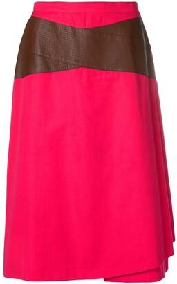 Gianfranco Ferré Pre-Owned Contrast Detail Skirt