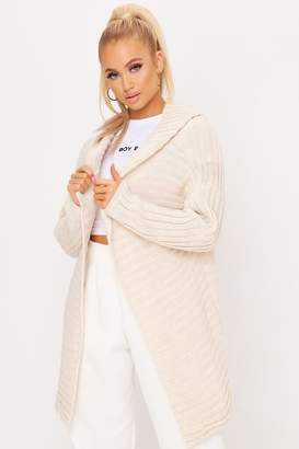 I SAW IT FIRST Hooded Pom Pom Long Cardigan
