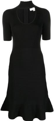MICHAEL Michael Kors Peplum-Hem Short-Sleeve Dress
