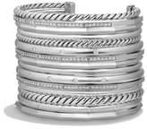 David Yurman Stax Wide Cuff Bracelet With Diamonds, 54Mm