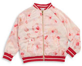 Kate Spade Girls 2-6x Little Girl's Rose Bomber Jacket
