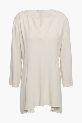 By Malene Birger Draped Crepe Blouse