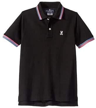 Psycho Bunny Kids Chestnut Polo (Toddler/Little Kids/Big Kids) (Black) Boy's T Shirt