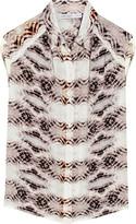 Chelsea Flower Snake-print silk top