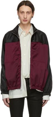 Enfants Riches Deprimes Burgundy and Black Baggy Fit Track Jacket