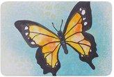 """KESS InHouse PM2014ABM02 Bath Mat Padgett Mason """"Summer Flutter"""" Blue Orange Memory Foam Bath Mat, 24"""" X 36"""""""