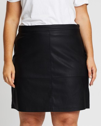 Only Carmakoma Diego Faux Leather Skirt