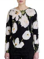 Dolce & Gabbana Floral Silk & Cashmere Sweater