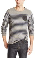 Scotch & Soda Men's Long Sleeve Tee with Leather Chest Pocket