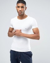 Emporio Armani Big Eagle Muscle Fit T-Shirt in White Crew Neck