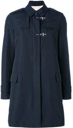 Fay Zipped Single-Breasted Coat