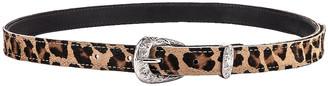 R 13 Western Belt in Leopard Calf Skin | FWRD