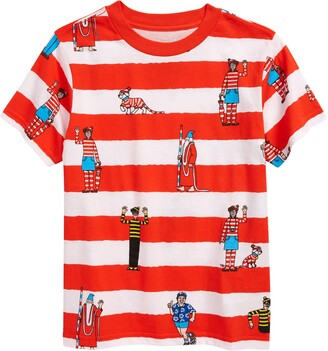 Vans x Waldo Kids' Where's Waldo Stripe Graphic Tee