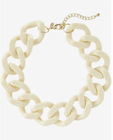 Express large resin status link necklace