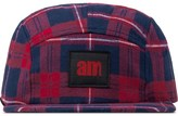 After Midnight Nyc Red Am Logo(Red Label) Flannel Camp Cap