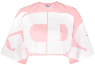 GCDS Oversized Logo Cropped Top