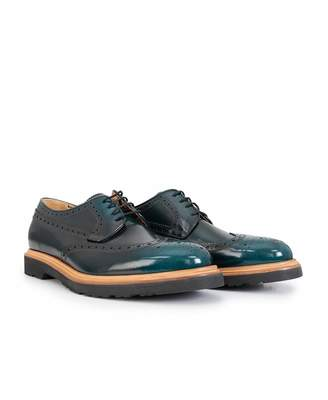 Paul Smith Crispin Chunky Brogues Colour: BOTTLE GREEN, Size: UK 7