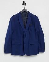 French Connection wedding slim fit plain linen suit jacket