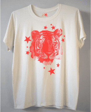 Thumbnail for your product : Margaux Ladies Tiger Priint Tee - MED