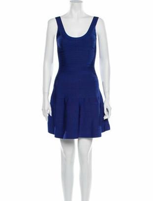 Herve Leger Eva Mini Dress Blue