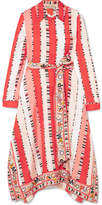 Emilio Pucci Printed Silk-twill Midi Dress - Coral