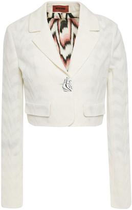 Missoni Cropped Jacquard Wool-blend Blazer