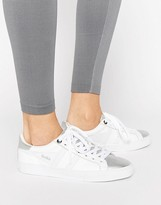 Gola Orchid White And Silver Sneakers