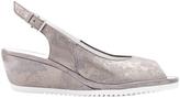 ara Capri Silver Suede Sandal