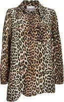 Ganni Crepe Leopard Button Down Shirt