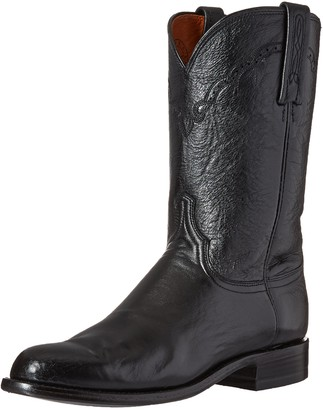 Lucchese Bootmaker Men's Lawrence-blk Lonestar Calf Roper Riding Boot