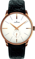 Longines 027/5202.00 Meister PVD gold-plated and leather watch