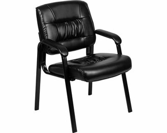 17 Stories Donegore Leathersoft Antimicrobial Medical Lounge Chair Seat Color: Black
