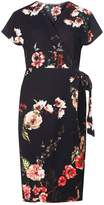 Dorothy Perkins Multi Coloured Floral Print Crepe Wrap Dress