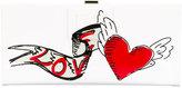 Roger Vivier heart print clutch