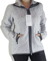 Lululemon It's Fleecing Cold Zip Up Heather White Grey Sz womens