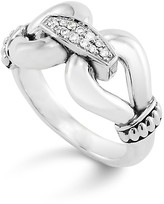 Lagos Sterling Silver Derby Ring with Diamonds