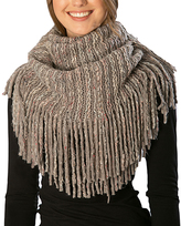 Pure Style Girlfriends Gray Knit Fringe Snood