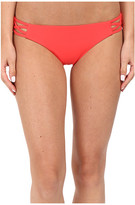 Red Carter Splice & Dice Side Cut Out Classic Hipster Bottoms