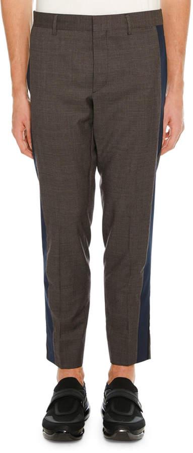 Prada Men's Side-Stripe Ankle Pants
