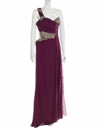 Marchesa Silk Long Dress w/ Tags Purple