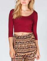Full Tilt Solid Womens Crop Top