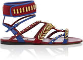 Valentino Women's Crystal-Embellished Suede & Leather Sandals