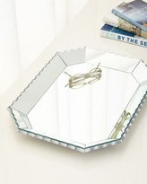 Neiman Marcus Scalloped-Edge Mirrored Tray